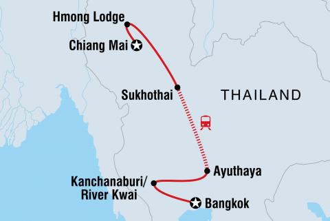 Zauberhaftes Thailand Karte