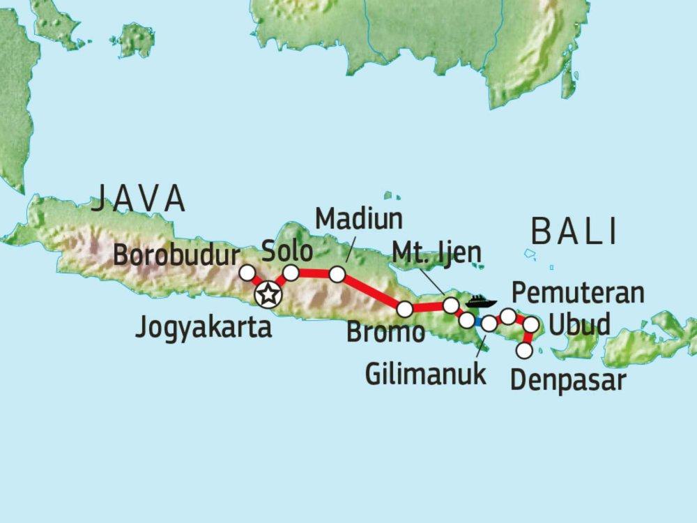 124Y21080 Java & Bali Entdeckertour Karte