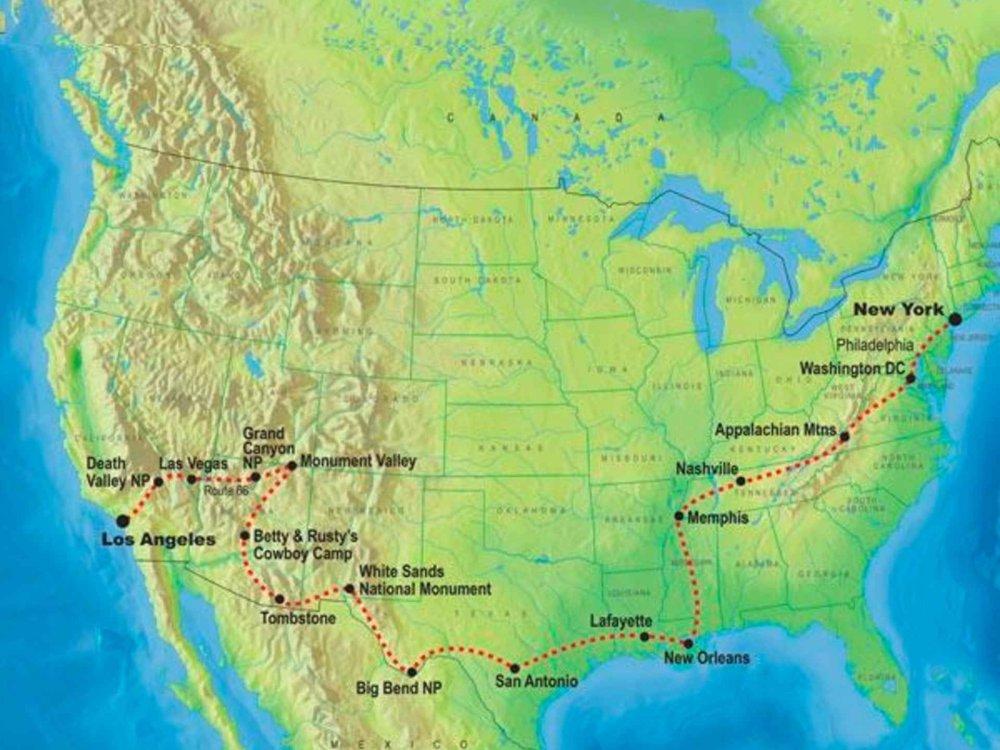 139Y10028 Highlights des Süden Karte