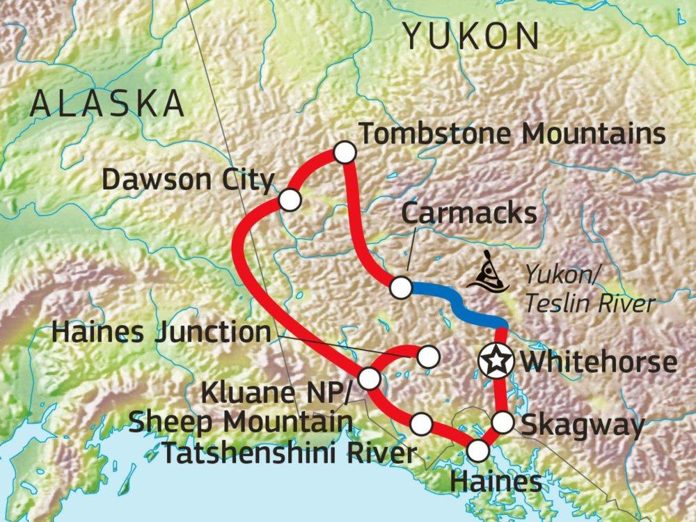 187Y21005 Gold Rush Tour - Im Land der Mitternachtssonne Karte