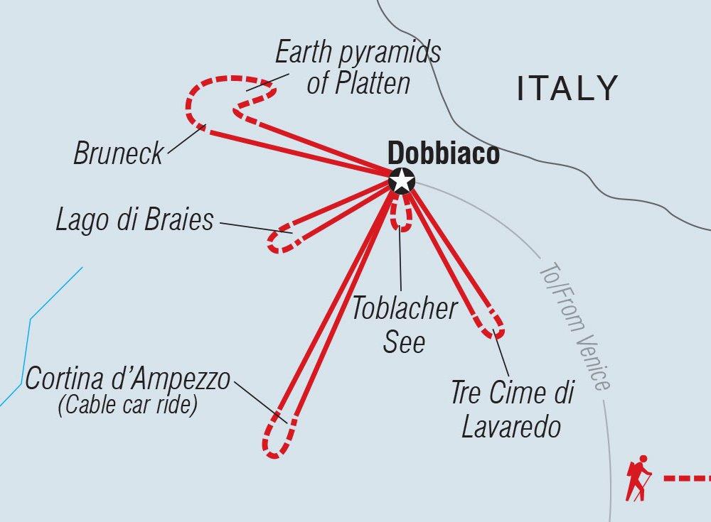 Wandern in den Dolomiten Karte