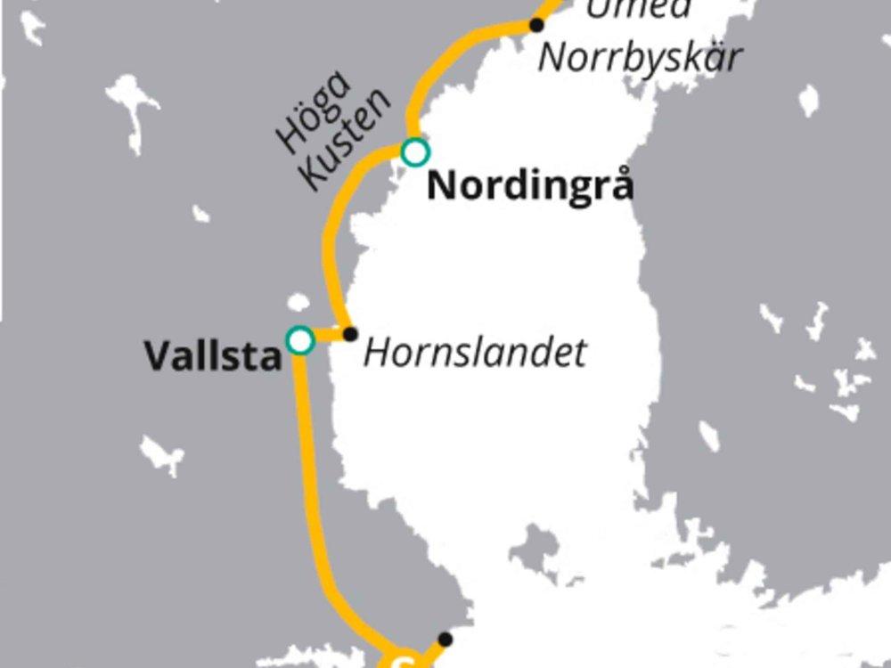 123H10030 Von Stockholm bis in Schwedens unberührte Wildnis Karte