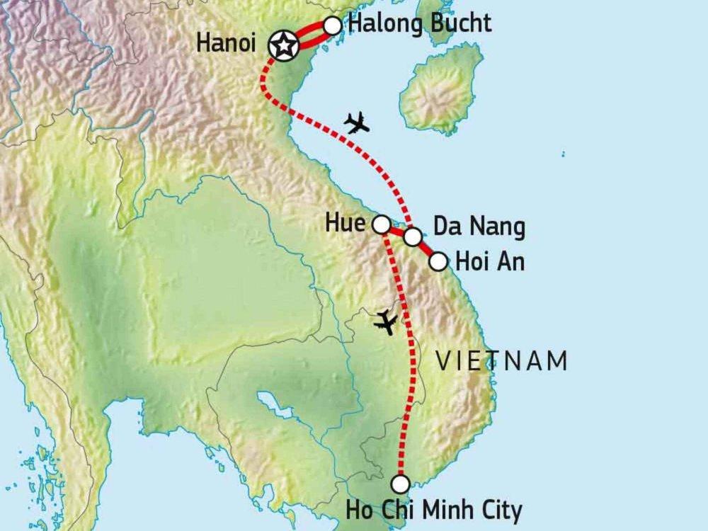 152A10003 Vietnam - kompakt & intensiv Karte