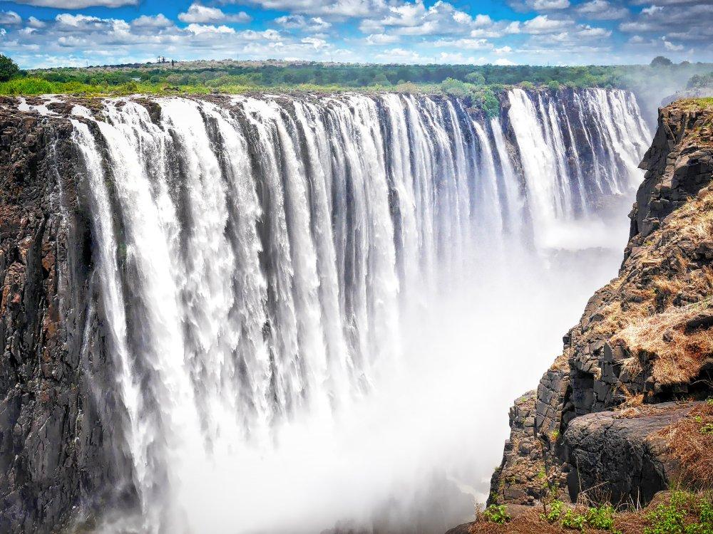 Victoria Falls Wasserfälle am Sambesi