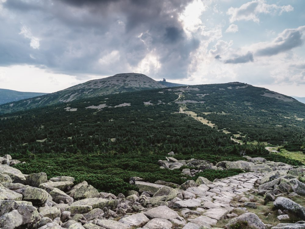 Bergkamm Riesengebirge