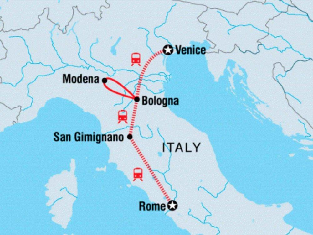 122Y40250 Italien kulinarisch entdecken Karte