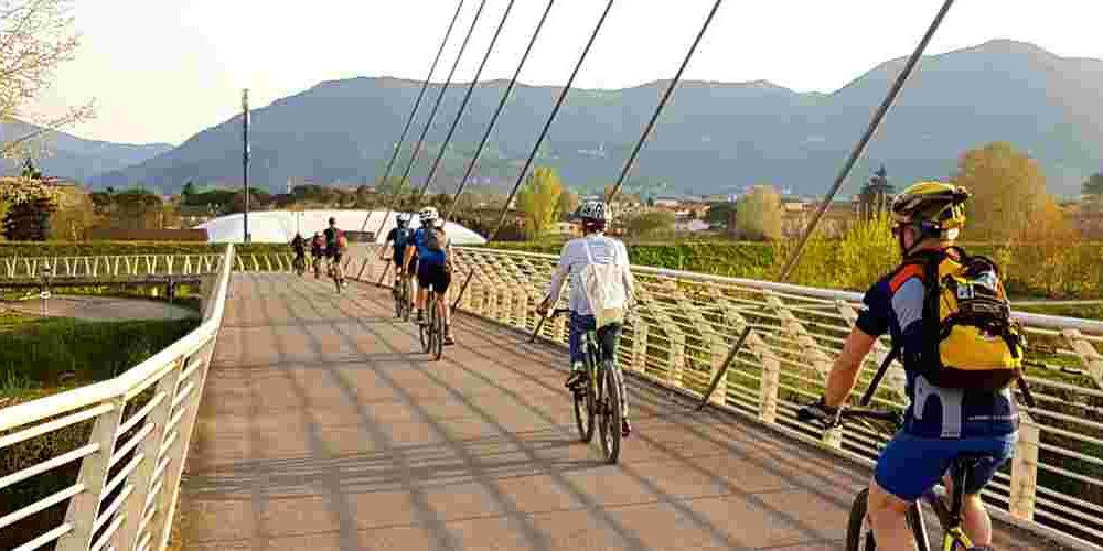 Radfahrer Donau