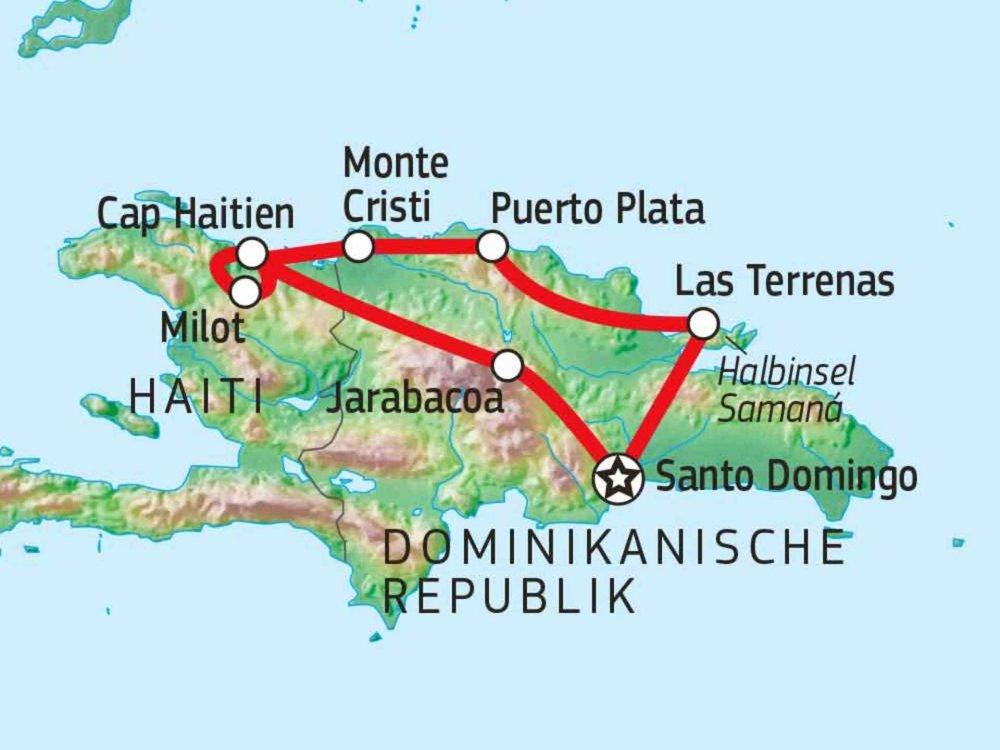 188D00002 Quer durch Hispaniola Karte