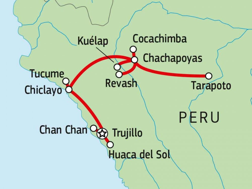 188P00009 Kultur & Wandern in Nord-Peru Karte