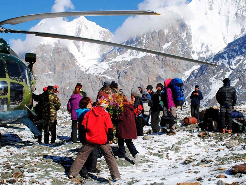 Zum Herzen vom Tien Shan Helikopterflug
