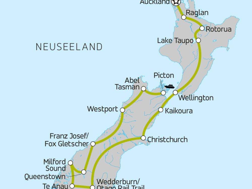 Neuseeland pur Karte