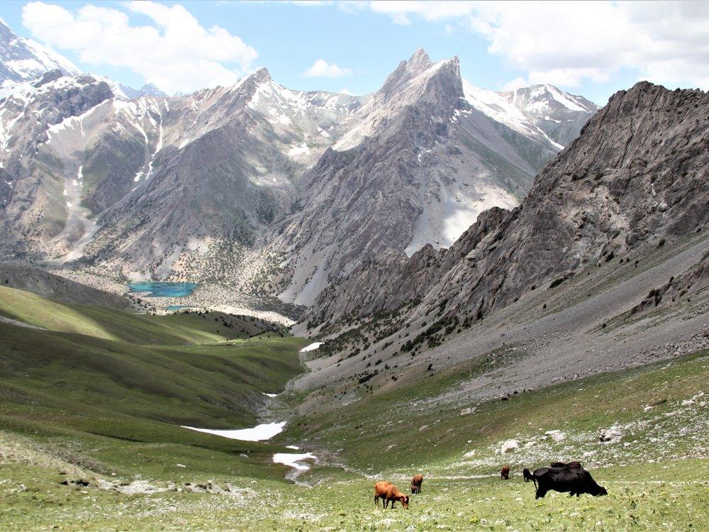 Eindrucksvolle Bergwelt der Fan Mountains