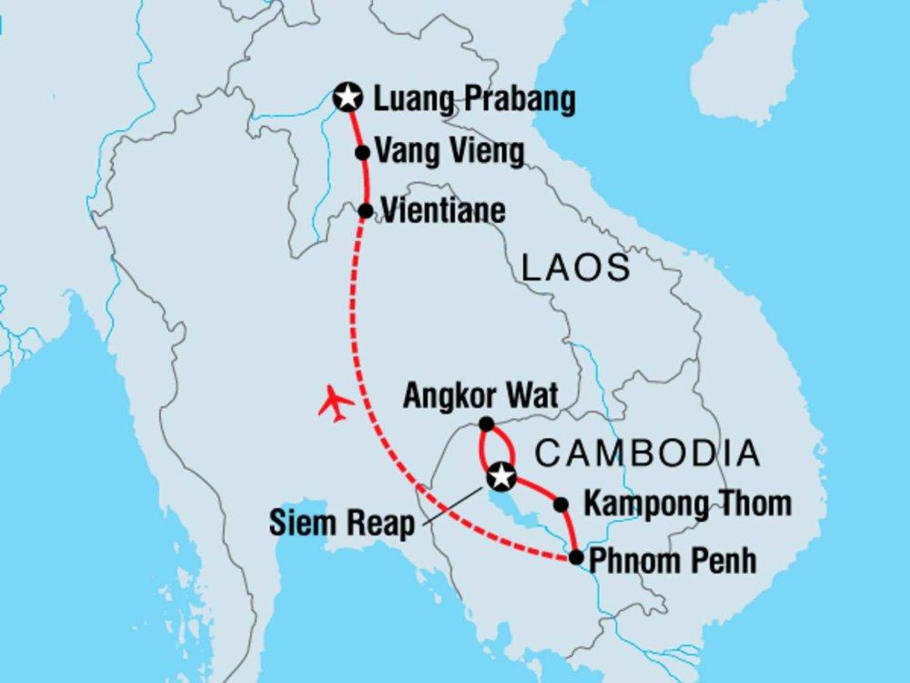122Y60405 Kambodscha & Laos Encounter Karte