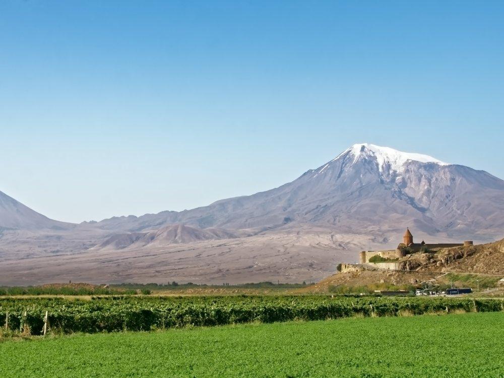 Landschaft Armenien mit Ararat