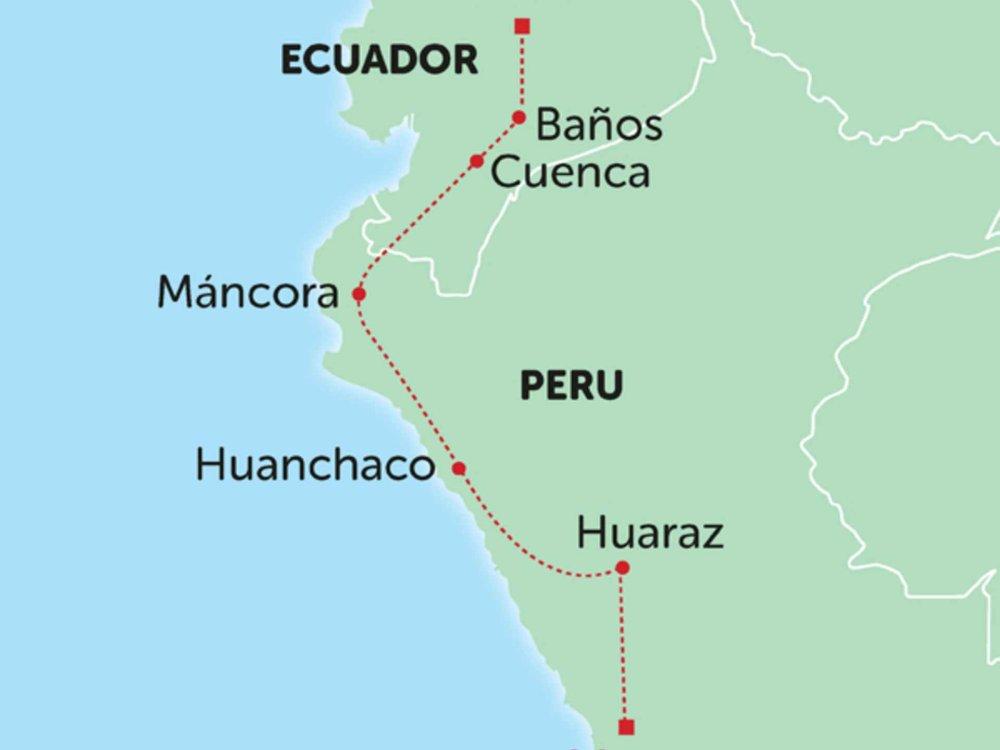 135Y10237 Nordperu und Ecuador Abenteuer Karte