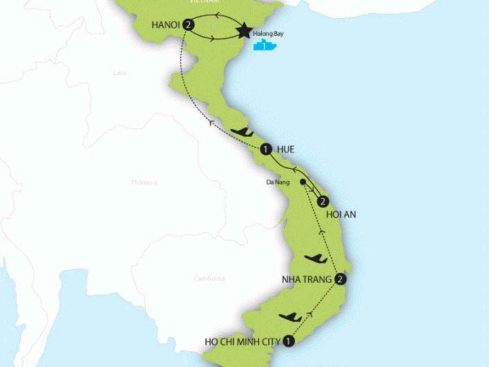 174Y10109 Vietnam Highlights Karte