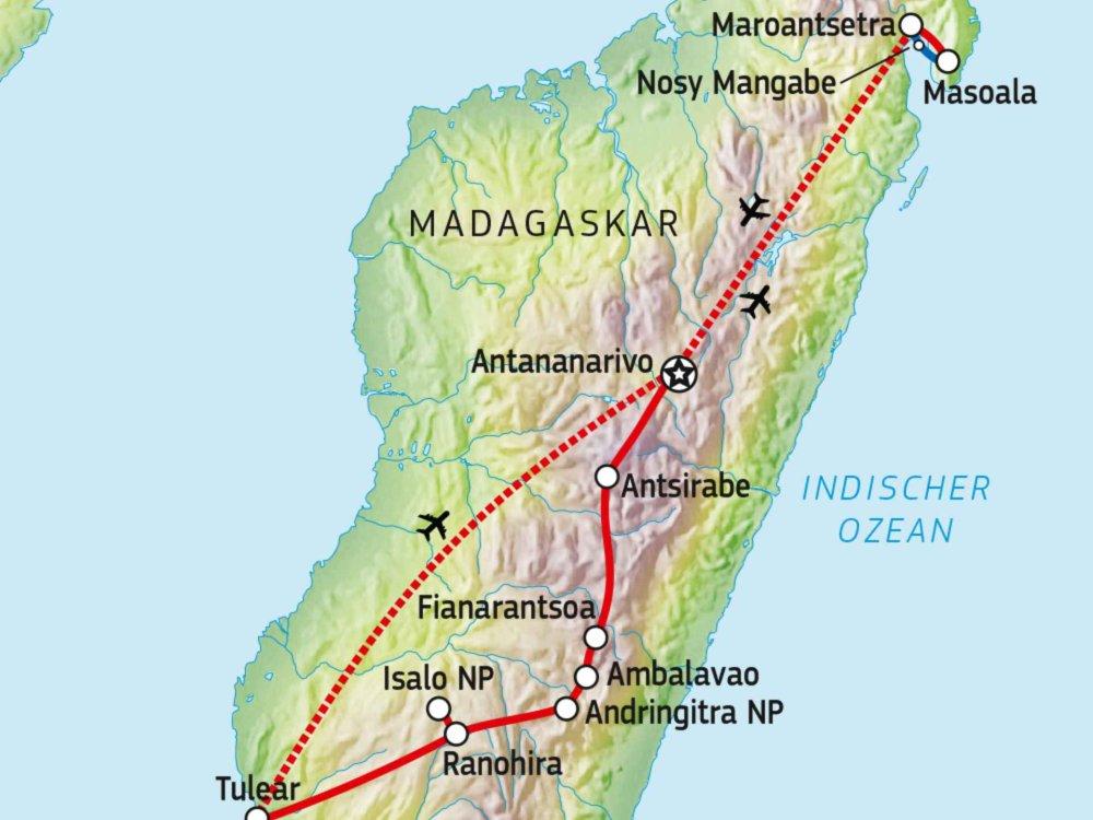 119Y82004 Wandererlebnis Madagaskar Karte