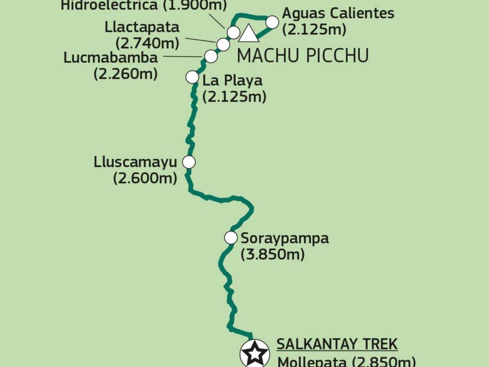 188P00002 Salkantay Trek nach Machu Picchu Karte