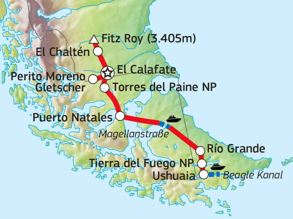198Y30040 Patagonien pur Karte