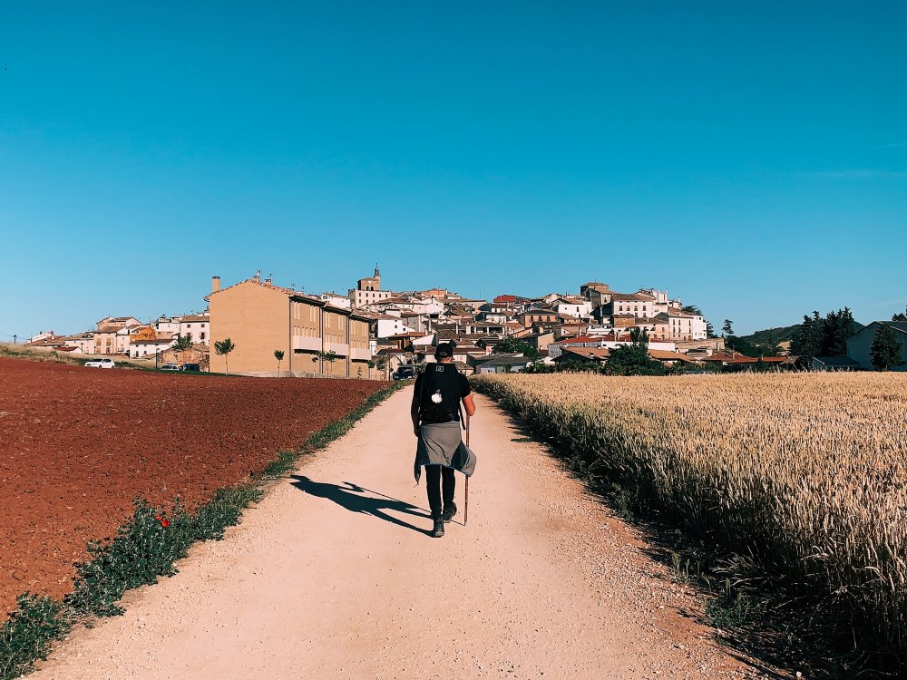 Wanderer auf dem Jakobsweg