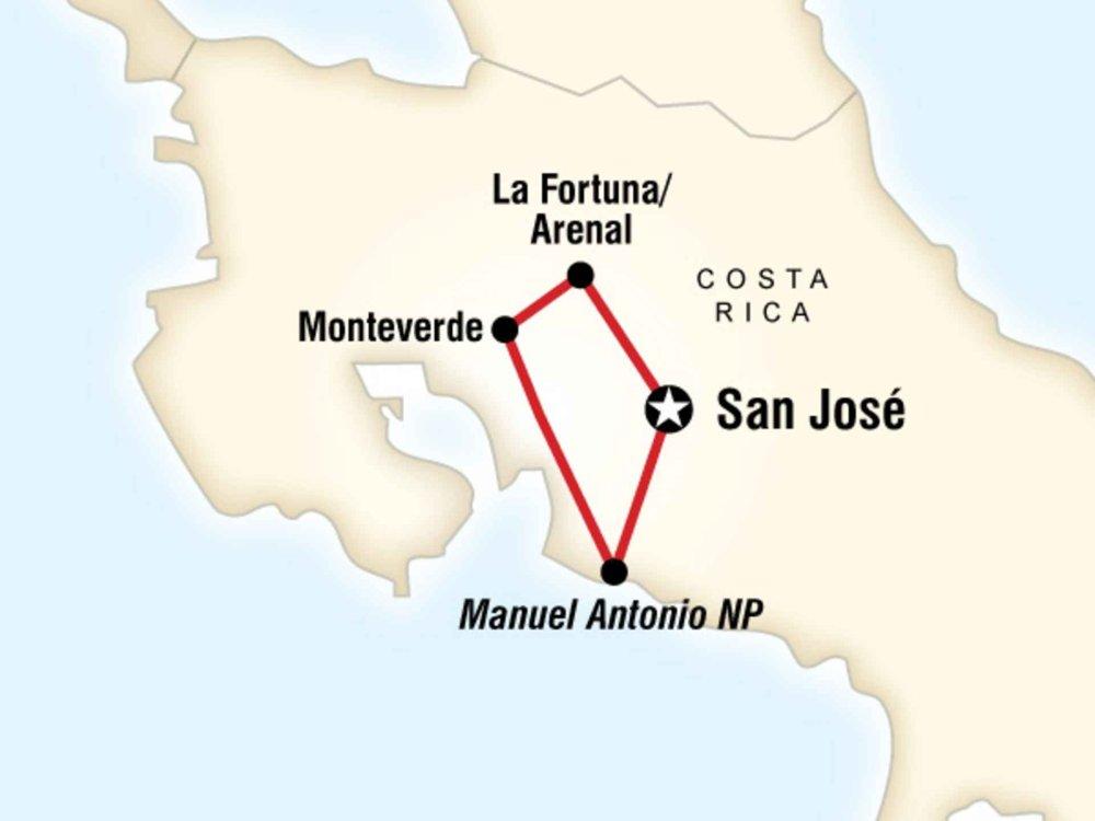 130G35022 Naturwunder von Costa Rica Karte