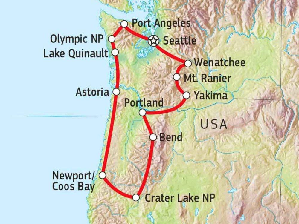 187R10005 Washington & Oregon Explorer Karte