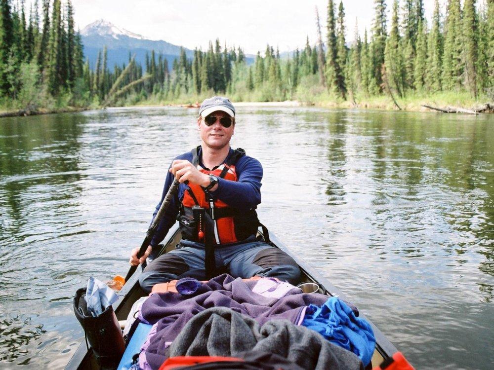 Unterwegs im Kanu auf dem Teslin River