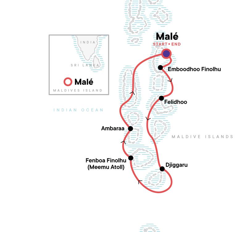 Malediven Inselhopping Karte