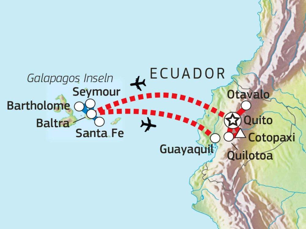 198Y31033 Ecuador & Galapagos: Anden- und Inselwelten Karte