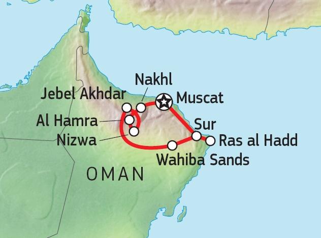 163Y30104 Naturerlebnis Oman Karte