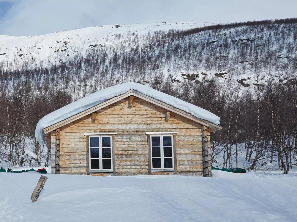 Berghütte Huskytrekking
