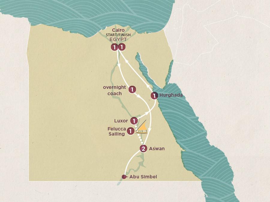 Erlebnisreise Ägypten Karte