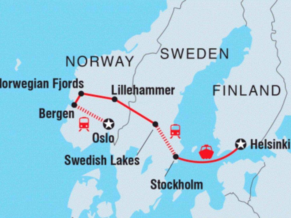 122Y21039 Skandinavien Explorer Karte