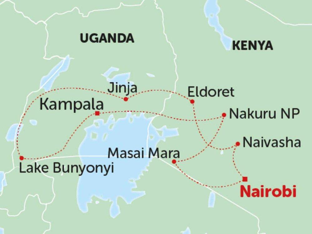 135Y10250 Gorillas & Safari Karte