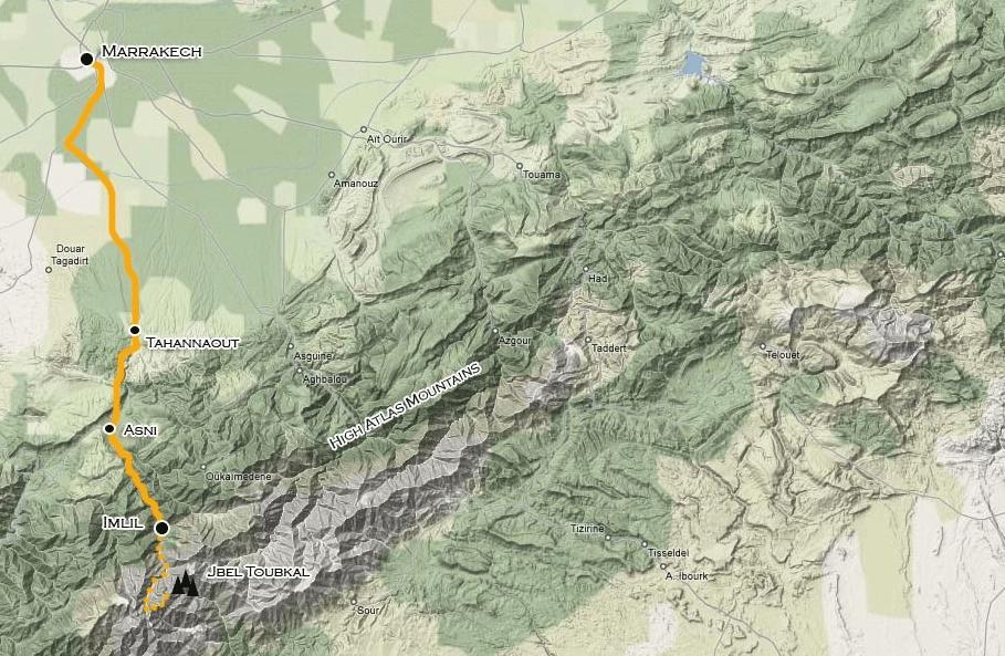 172Y51004 Mount Toubkal Express Karte