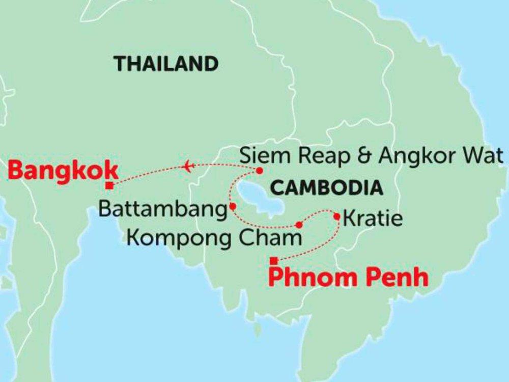 135Y10274 Erlebnis Kambodscha Karte