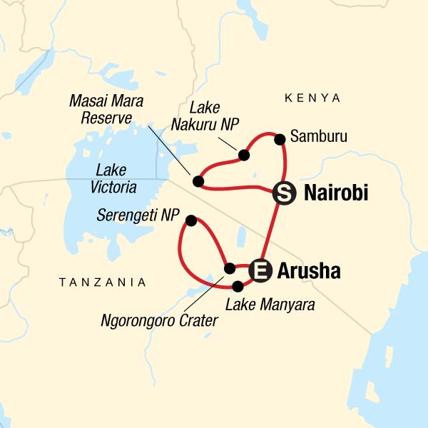 Kenia und Tansania Wildlife Safari