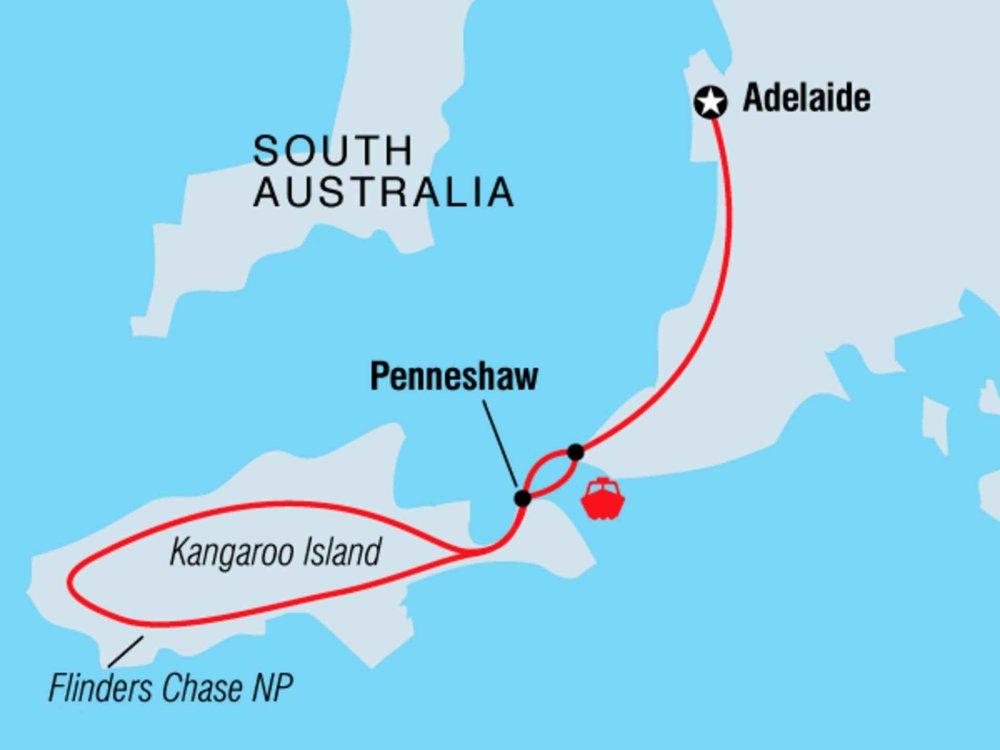 104Y20024 Kangaroo Island Explorer Karte