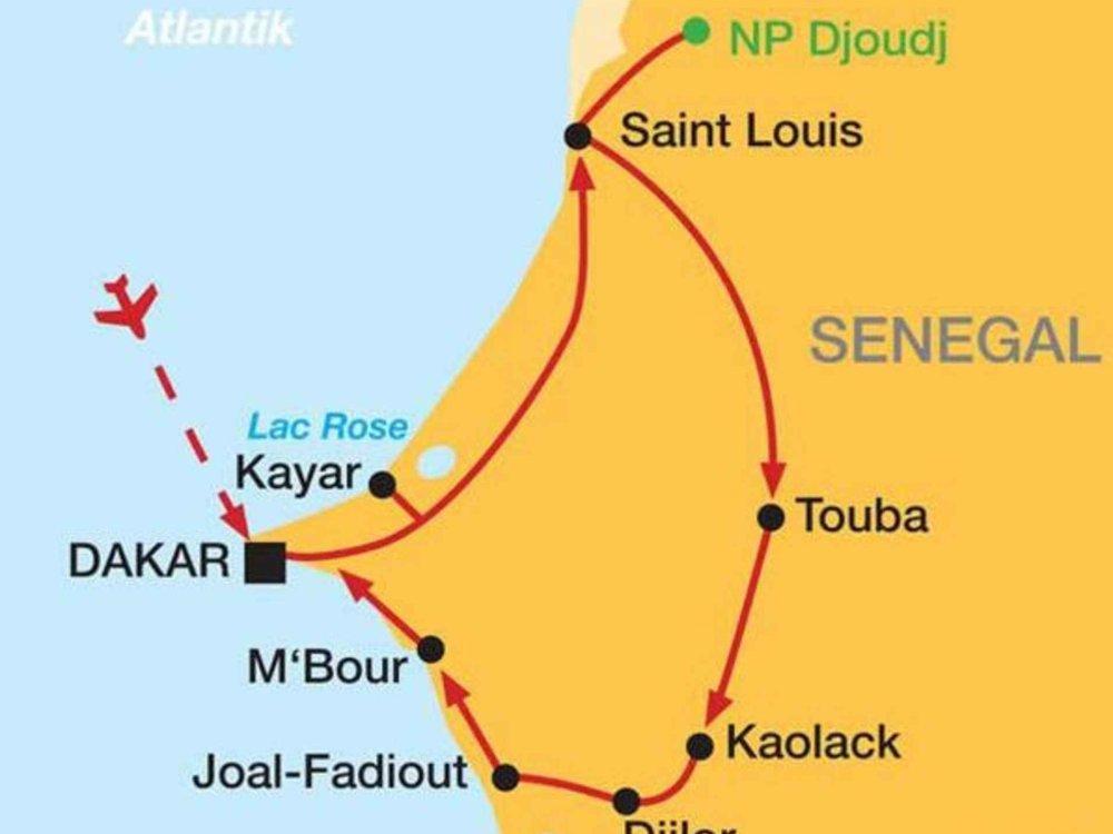 167M10001 Senegal - Ein Land der Gastfreundschaft Karte