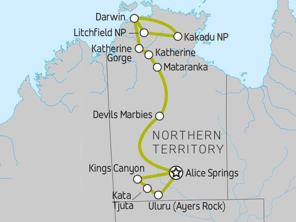 102A10053 Vom Red Centre bis zum Top End Karte