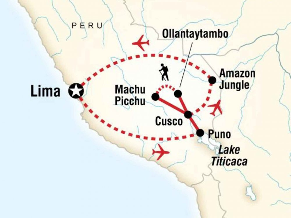 130Y20187 Peru Panorama Karte