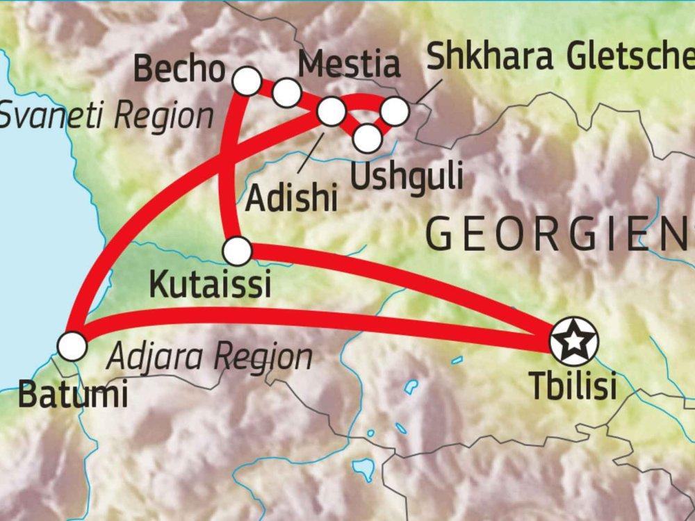178Y31013 Versteckte Bergwelt Swanetiens Karte
