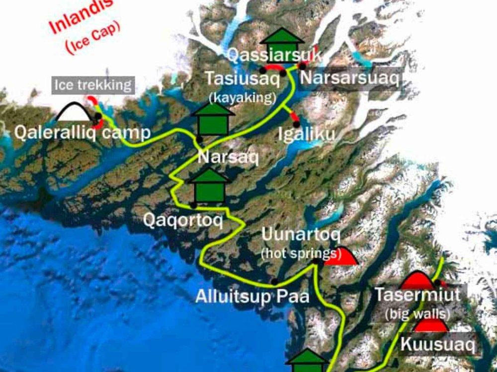 170Y31001 Das Beste von Grönland Karte
