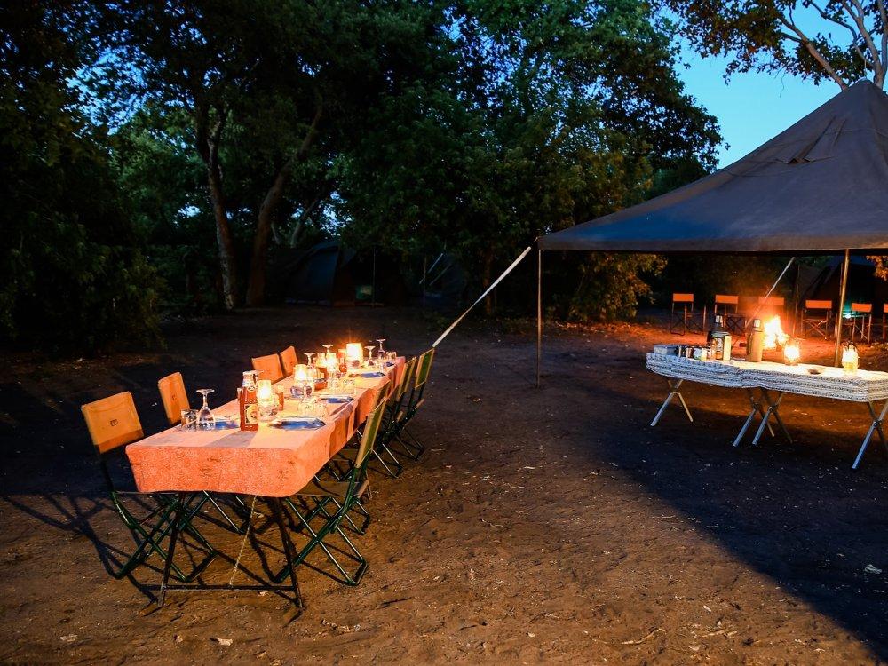 Dinner im Busch