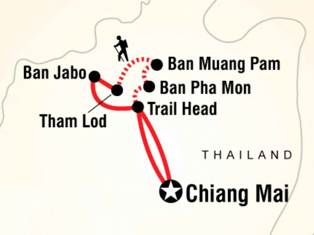 130Y60066 Wanderung zum Bergvolk Ban Jabo Karte