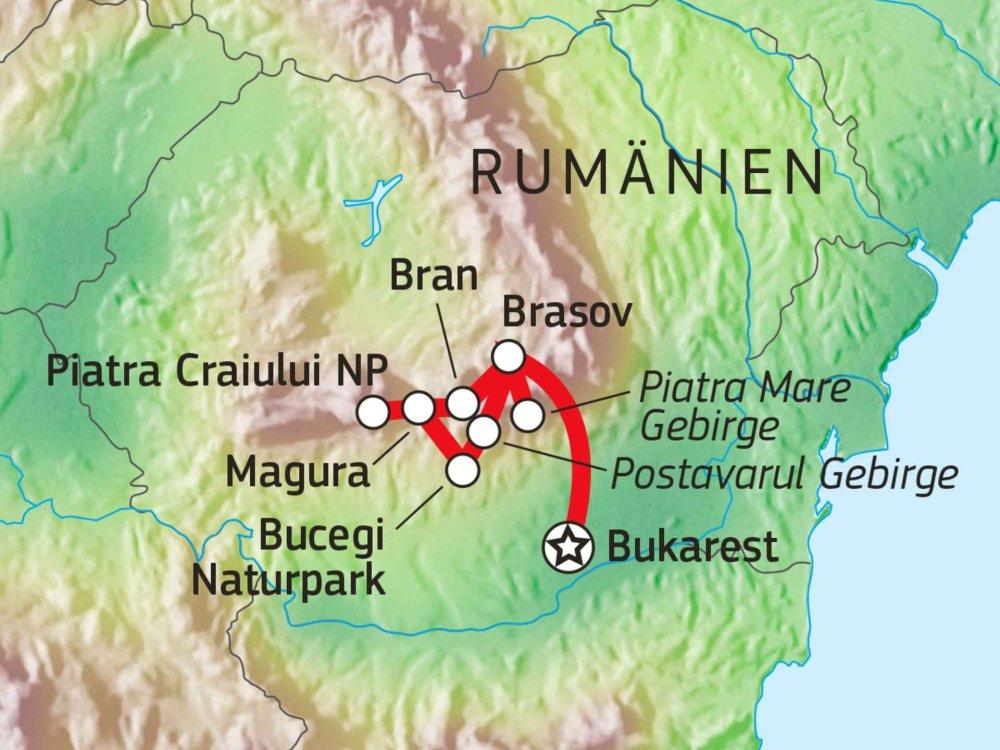 137B20020 Transsilvaniens Burgen & Berge Karte