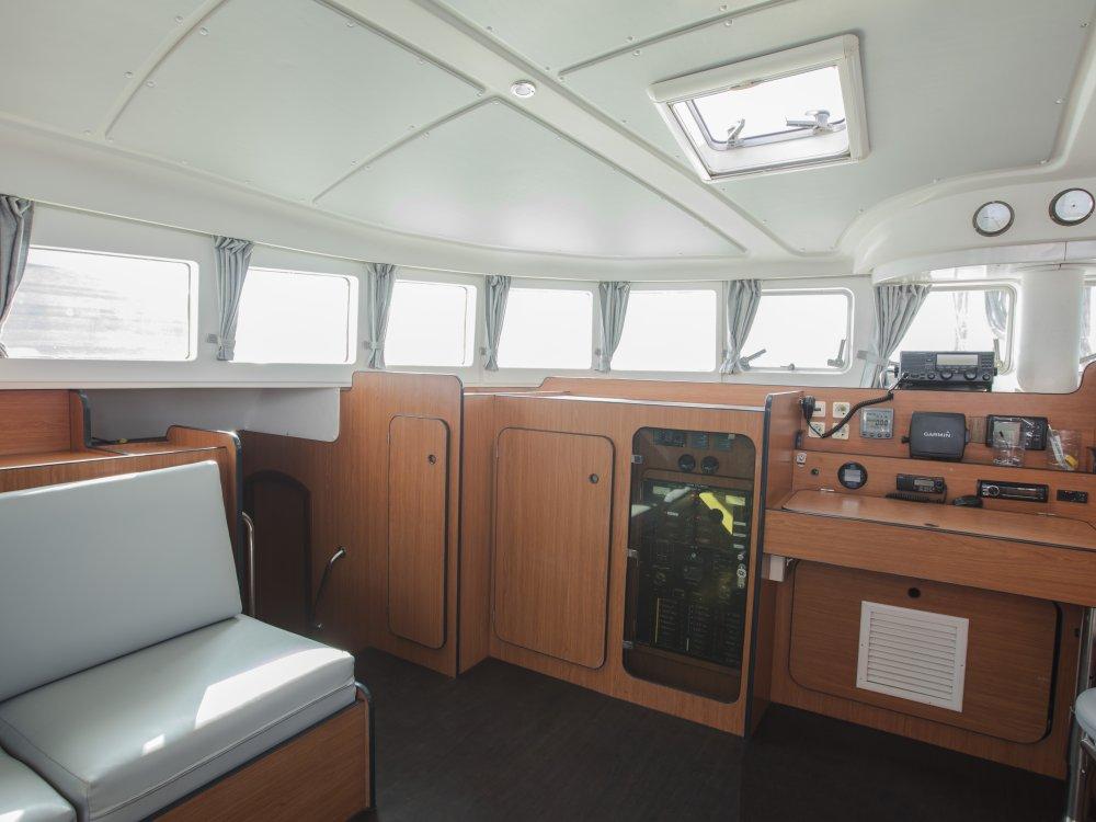 Indonesia Sailing Catamaran Interior Cockpit