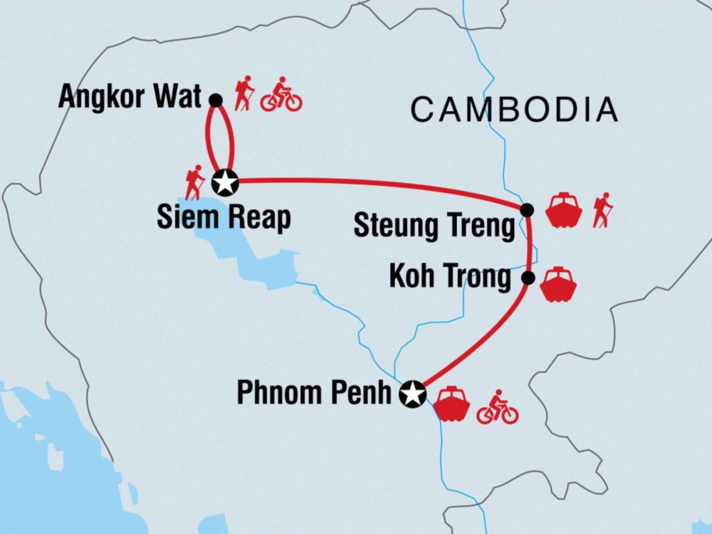 122Y60446 Kambodscha Aktivreise Karte
