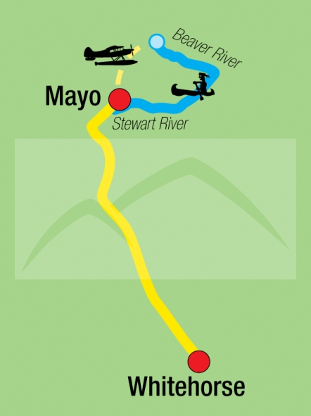 187Y31021 Kanutour auf dem Beaver & Stewart River Karte