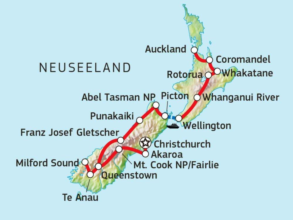 101S21004 Neuseeland Naturerlebnis Karte